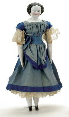china head doll mid 1800's