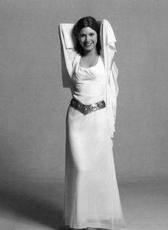 Carrie Fisher Princess Leia Black And White 8x10 Picture Celebrity Print