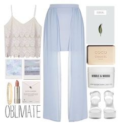 """""""[atlantis]"""" by tanara-111 ❤ liked on Polyvore featuring River Island, Nly Shoes, Ilia, Dogeared and Chanel"""