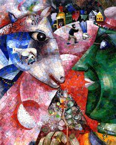 Мозаичное переложение работы М.Шагала