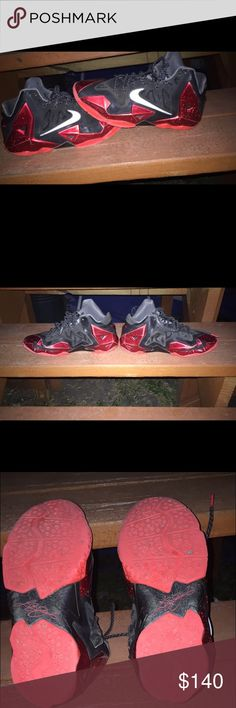 Lebron 11 Miami heat Not in the best condition Nike Shoes Sneakers