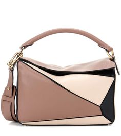 GABRIELLE'S AMAZING FANTASY CLOSET   Loewe Puzzle Small taupe, beige and black leather shoulder bag