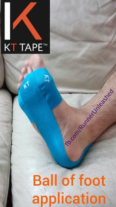 How to apply KT Tape to help with metatarsalgia.
