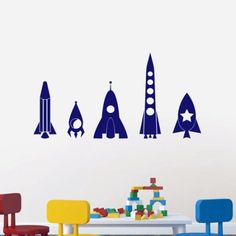 Free Shipping. Buy Sweetums Wall Decals 5 Piece Rocket Ship Wall Decal Set at Walmart.com