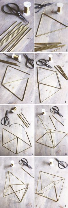 Minimal Bohemian DIY / Sycamore Street Press - Easy Diy Home Decor Creation Deco, Ideias Diy, Diy Décoration, Plant Holders, Diy Projects To Try, Diy Room Decor, Mobiles, Diy And Crafts, Diy Straw Crafts