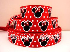 Online Shop 10Y2796 david ribbon 7/8 '' mickey red grosgrain ribbon hairbows printed ribbon freeshipping|Aliexpress Mobile