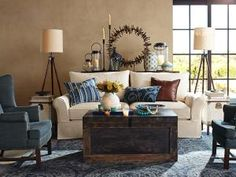 Love the colors for living room.