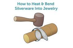 How to Heat & Bend Silverware Into Jewelry #howtomakejewelry #metalworkcrafts #jewelrytips