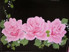 Photo Album Hand Painted Pink Roses Butterfly by pinkrose1611
