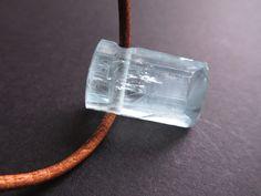 Aquamarin - Aquamarin Kristall Anhänger gebohrt / Edelstein - ein Designerstück von Elstar-Stones bei DaWanda