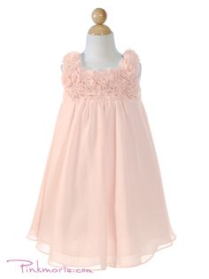 This flowy, floral number in blush pink will look stunning on the flower girl, my 6-year-old sister, Mia!