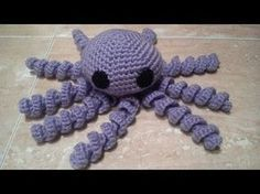 Como hacer un Pulpo a ganchillo o crochet en español Crochet Eyes, Love Crochet, Crochet Baby, Crochet Bikini, Knit Crochet, Amigurumi Tutorial, Crochet Patterns Amigurumi, Amigurumi Doll, Crochet Dolls