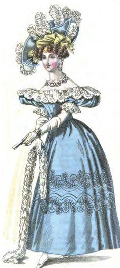 Romantic Era Clothing: Romantic Era Fashion Plates - October 1830 Ladies' Pocket Magazine