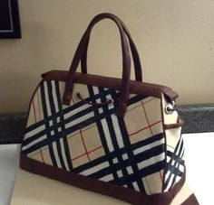 Handpainted Burberry Purse Cake with Chocolate Handles
