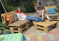 Pallet patio furniture.