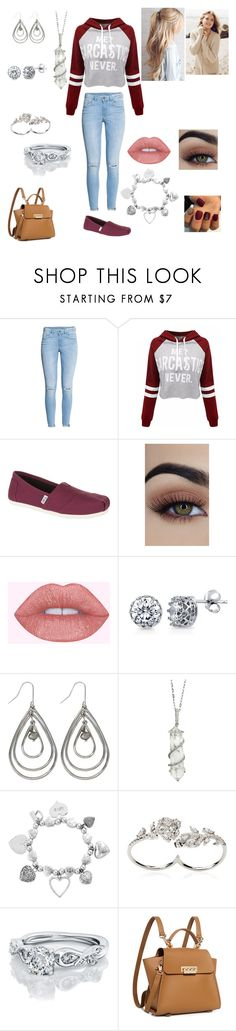 """""""Untitled #285"""" by calalilly15 on Polyvore featuring WithChic, TOMS, Repeat Cashmere, BERRICLE, M&Co, Sharon Khazzam, ChloBo, Apples & Figs and ZAC Zac Posen"""