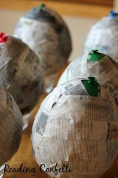 Balões de papel mache