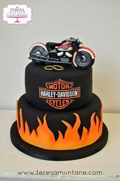 Tarta boda Harley Davidson » Teresa Muntané Cake Designer