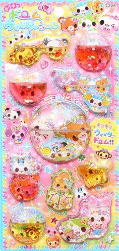 kawaii monkey panda bear animal 3D water capsule sticker - Animal Stickers - Sticker - Stationery - kawaii shop modeS4u