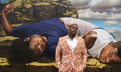 Kehinde Wiley, the artist himself. His paintings are supersize!