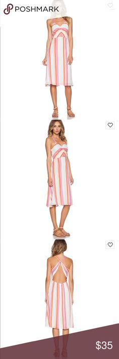 Summer striped dress Cute summer dress with bright stripes. Small rip on side that can easily be stitched (pictured) D. RA Dresses