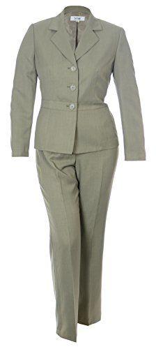 233c7d860d1 Le Suit Women s 2 Piece Melange Business Jacket Pant Suit Set