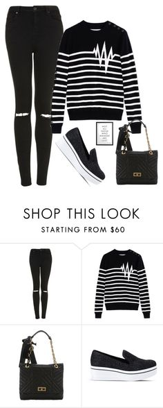 """""""Untitled #2604"""" by misnik ❤ liked on Polyvore featuring Topshop, Each X Other, Lanvin, STELLA McCARTNEY, contest, fashionset and PolyvoreInsider"""