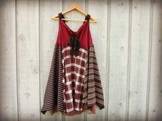 ML Burgundy Bohemian Tunic Top Dress//Maroon Black by emmevielle, $87.00