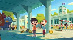 Pin by erwin argh on cartoon cartoon in 2019 Cartoon Background, Animation Background, Background Images, Art Drawings For Kids, Cartoon Drawings, Cartoon Cartoon, Children's Book Illustration, Character Illustration, Work Cartoons