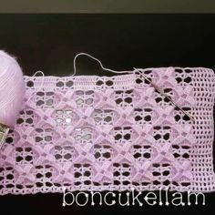 T-shirt Au Crochet, Diy Crochet Bag, Crochet Motifs, Crochet Shirt, Thread Crochet, Filet Crochet, Learn To Crochet, Crochet Stitches, Crochet Baby