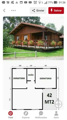 House Plans For Sale, Small House Plans, House Floor Plans, Flat Roof House, Facade House, Rest House, House In The Woods, Small House Living, Diy Cabin