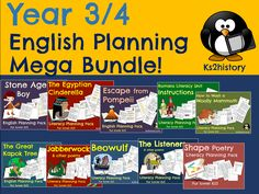 English literacy planning for your Year 3 of Year 4 classroom! 10 whole units of work for Y3 or Y4, covering poetry, narrative and instructions for KS2. Planned  by outstanding primary  teachers!
