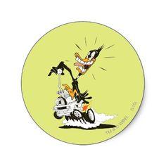 Daffy Duck Shifty Shifter Round Sticker