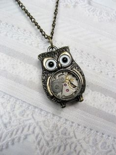Steampunk  Owl by birdzNbeez on Etsy