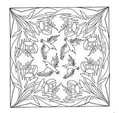 Mandalas Para Pintar: Mandala con colibríes