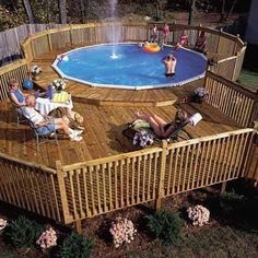 How to Build a Pool Deck | Pool deck plans, Deck plans and Ground pools