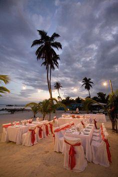 Twilight reception on our private beach from Stancey|Cross wedding #lasterrazas #destinationwedding
