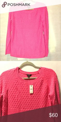 Talbots Textured Sweater Pink long sleeve sweater. NWT. Talbots Sweaters