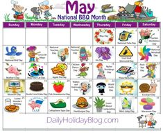 may daily holidays calendar Silly Holidays, Unusual Holidays, Holidays In May, Holidays And Events, Random Holidays, National Holiday Calendar, Holiday Calender, Monthly Celebration, Greeting Card Organizer