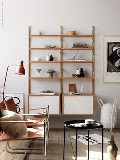Shelving by IKEA, styling by Anna Lenskog Belfrage