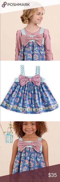 Matilda Jane Blue Floral Fairy Wand Tunic Gorgeous Dress! Matilda Jane Dresses Formal