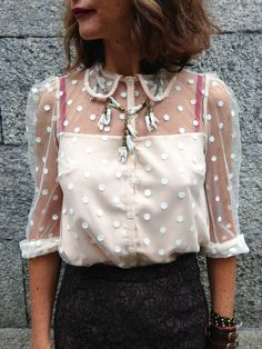 Prettiest polka dot top