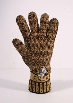 "Glove in the Pheasant's Eye Pattern, ""JCB"" at wrist"