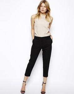 ASOS Crop Trousers with Seam Detail