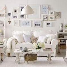 Soft white living room  #KBHome