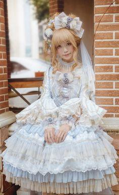 Elpress L -The Promise of Love- Gorgeous Lolita OP Dress,Lolita Dresses, Lolita Cosplay, Cosplay Girls, Gothic Dress, Lolita Dress, Gothic Lolita, Gothic Girls, Harajuku Fashion, Kawaii Fashion, Lolita Fashion