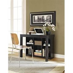 Altra Furniture Parsons Style Desk with Drawer and Bookcase, Black Oak  Walmart: $111