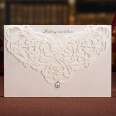 elegant laser cut wedding invitations EWWS022 as low as $2.09