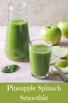 Boost your vitamin and nutrient intake with this delicious vegan green Pineapple Spinach Smoothie. Vegetarian Paleo, Vegan, Good Food, Yummy Food, Healthy Food, Healthy Recipes, Ginger And Honey, Summer Recipes, Cucumber