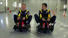 Kevin Magnussen And Jolyon Palmer Get Up To Antics On Crazy Carts (VIDEO)